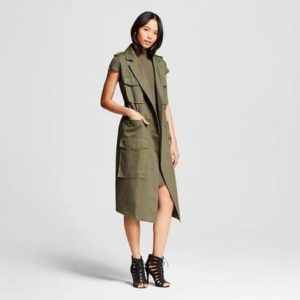 Womens Sleeveless Trench, $39.99, Target