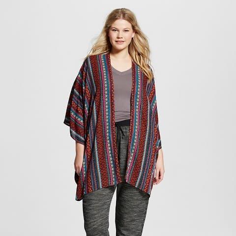 Plus size woven kimono top, $21.99, Target