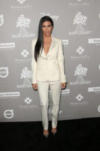 kourtney kardashian style: white suit