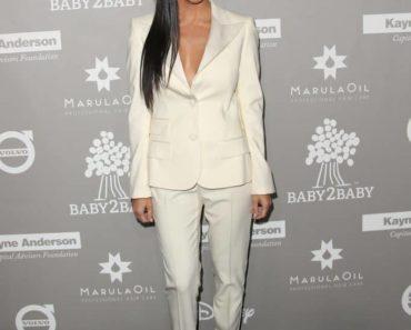 kourtney kardashian style: white suit