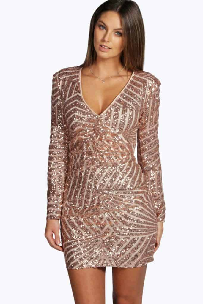 Boutique Sequin Dress, $60, Bohoo