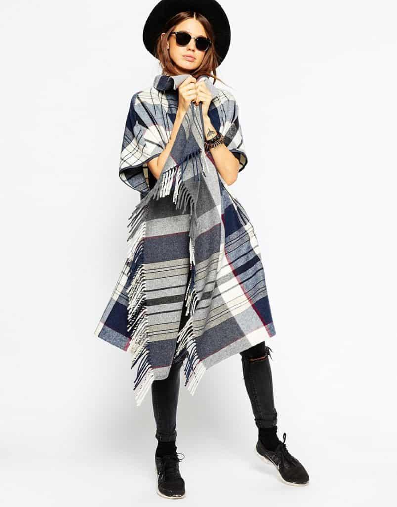 Blanket cape, $77, ASOS