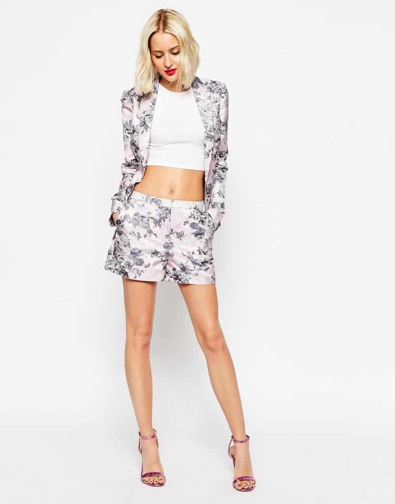 Floral co-ord shorts, $18, ASOS