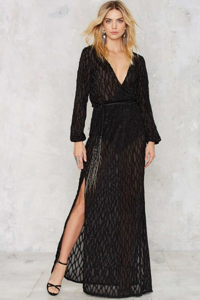 Midnight Hour Maxi Dress, $82, Nasty Gal