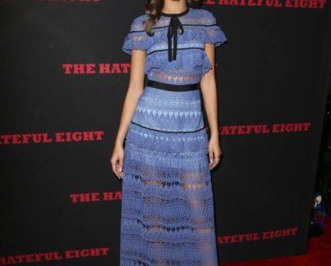 zendaya coleman style - actress wearing blue midi dress