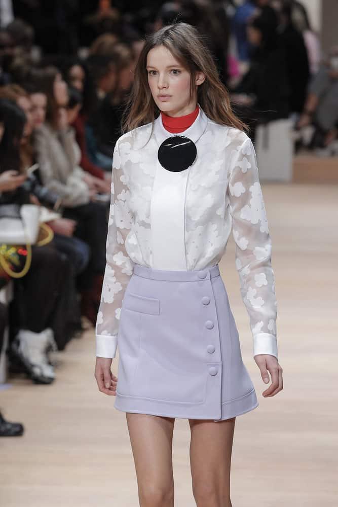 runway fashion model wearing Carven