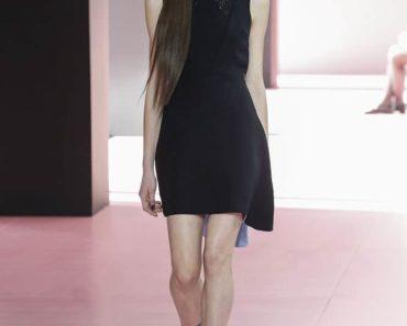 runway model wearing dior