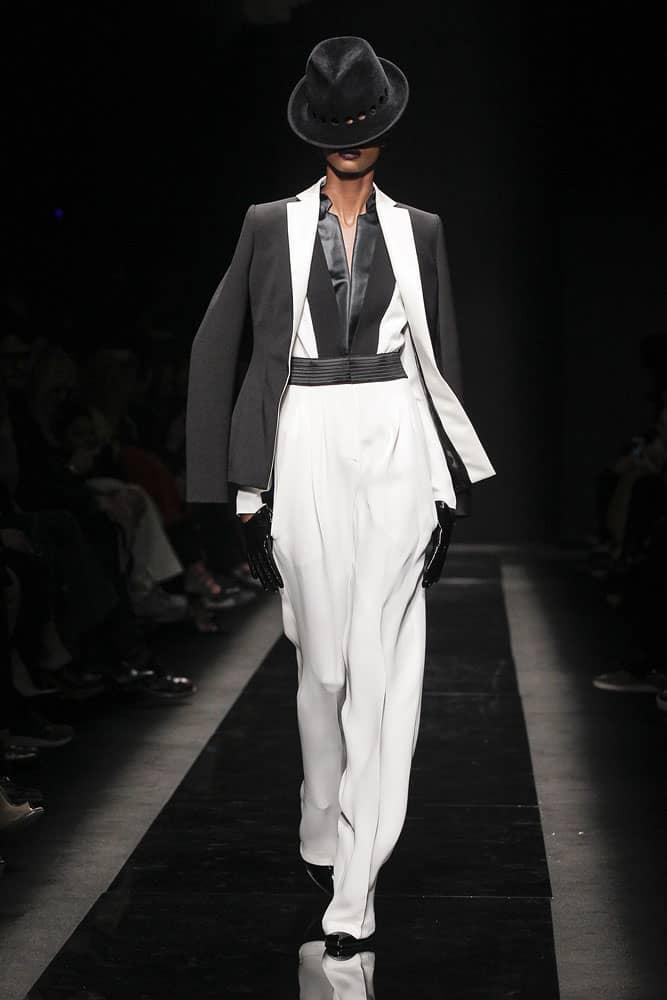 runway fashion model wearing ungaro