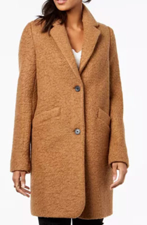 Camel coat on sale at Macy's