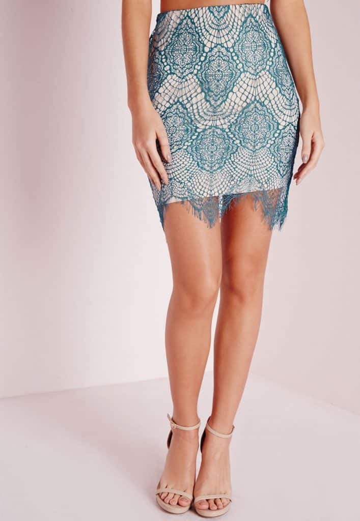 Lace Mini Skirt, $15.30, Misguided