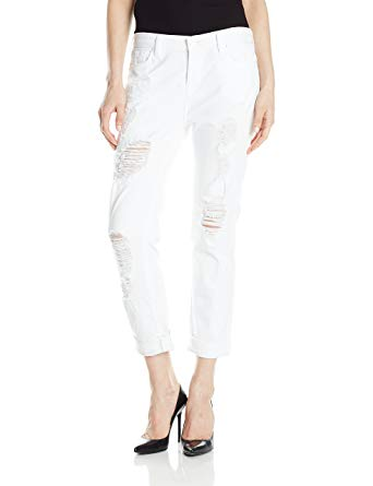white distressed jeans