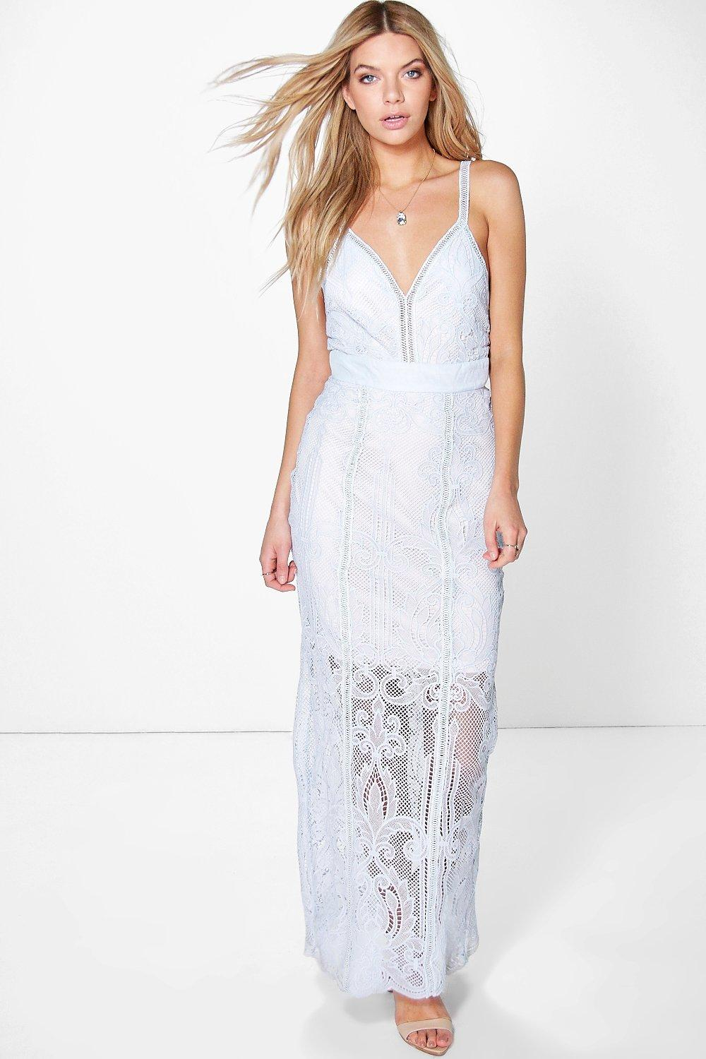 White dress with sheer overlay