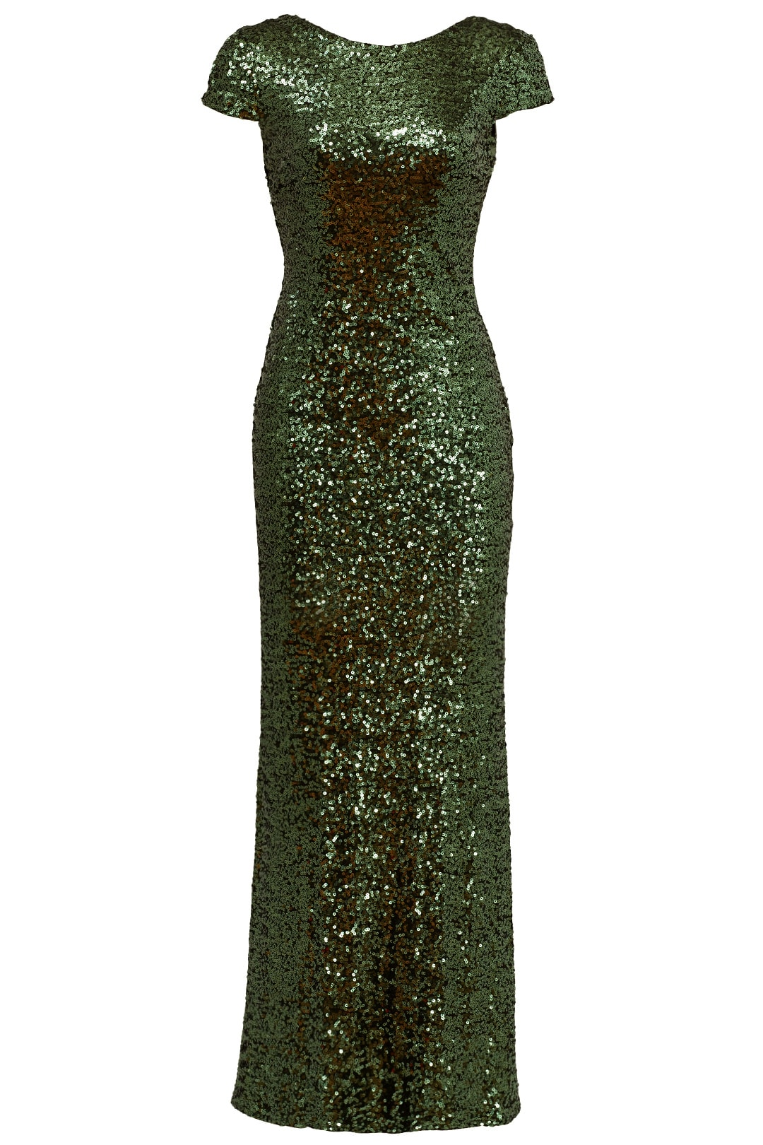 Green sparkly formal dress