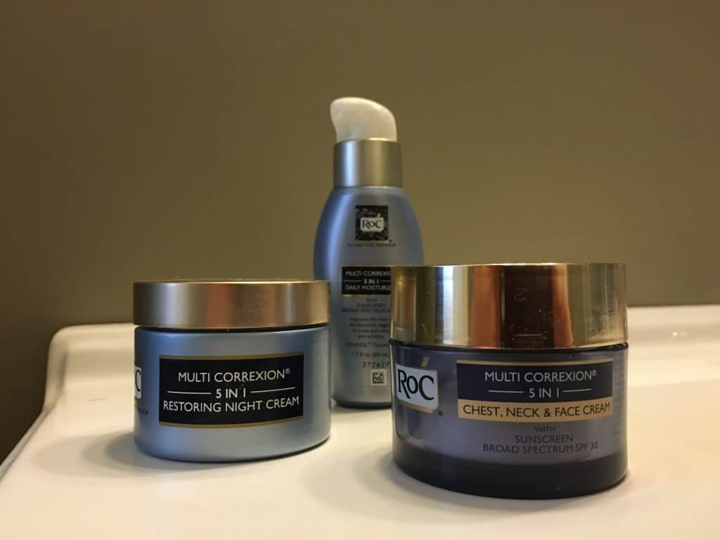 three RoC Skincare products on a table