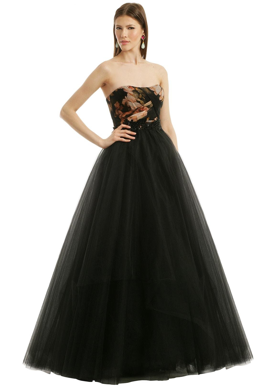 Strapless dress with full skirt