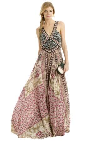 Formal patterned dress