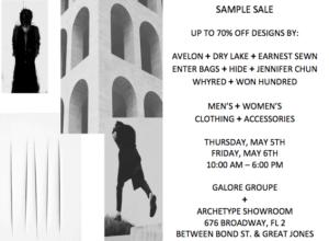 sample sale information