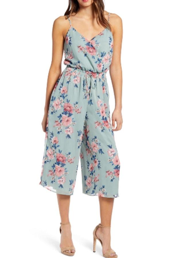Floral culotte jumper
