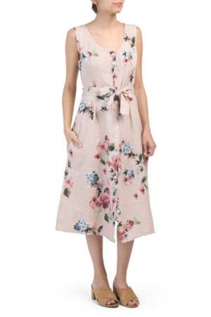 Floral Linen Dress