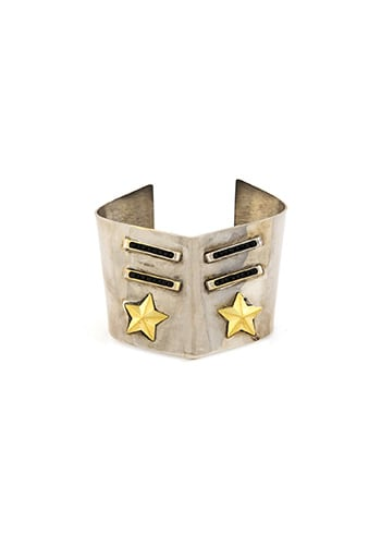 gold cuff with star accents