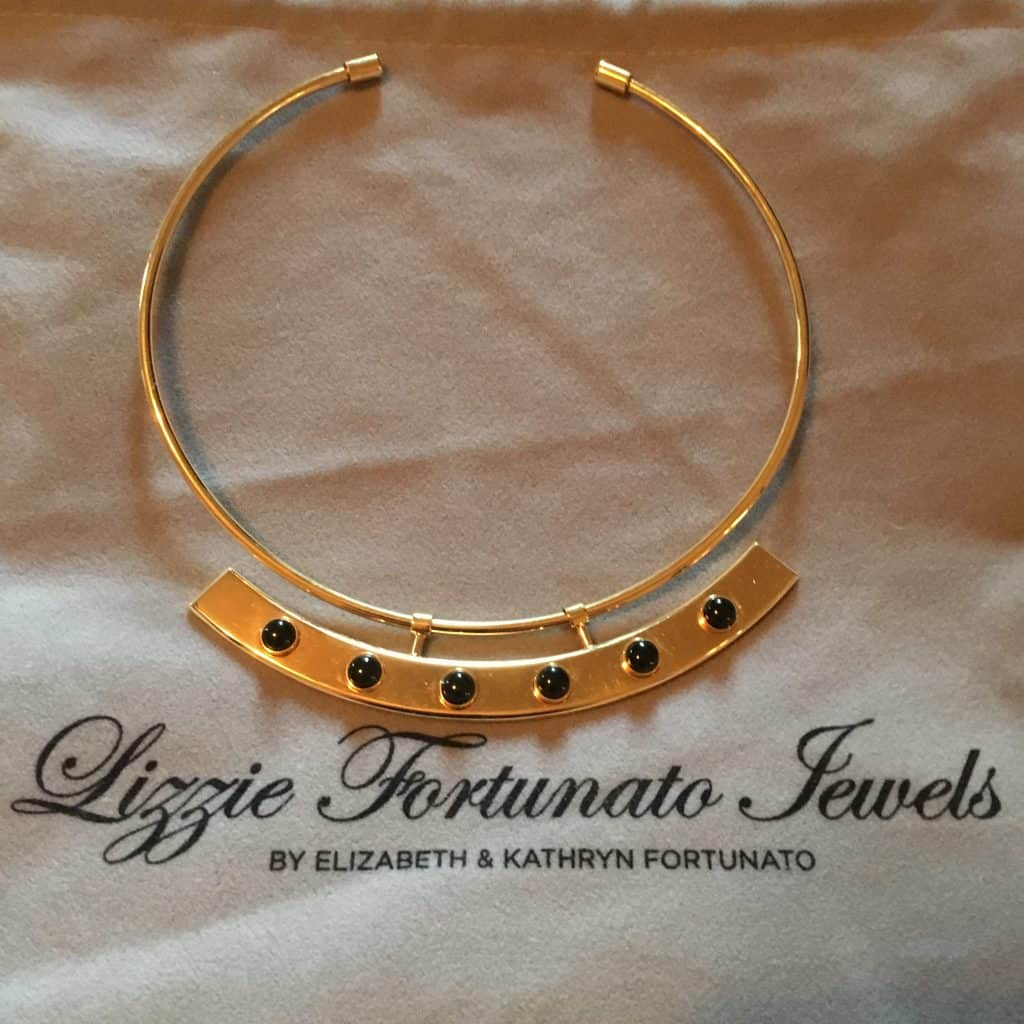 gold-plated brass collar necklace