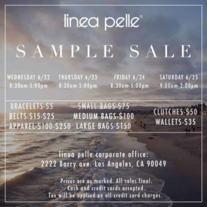 sample sale flyer