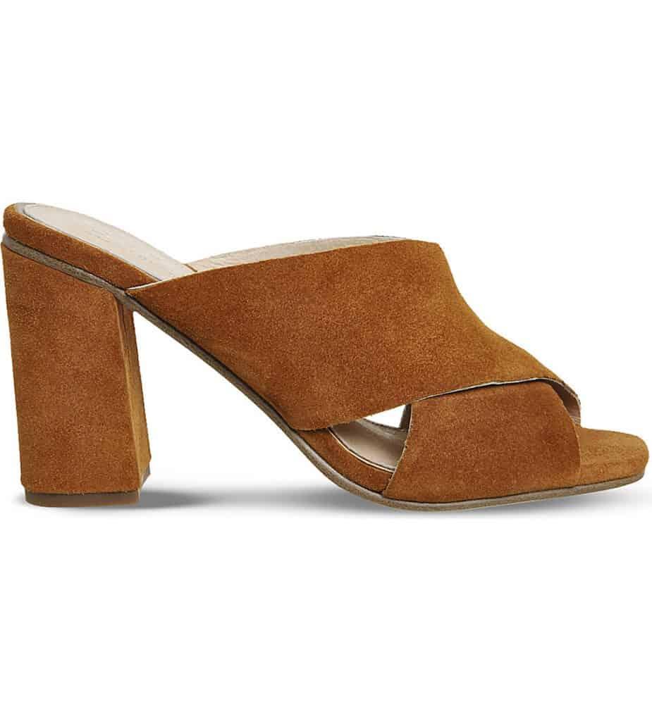 brown mule shoes