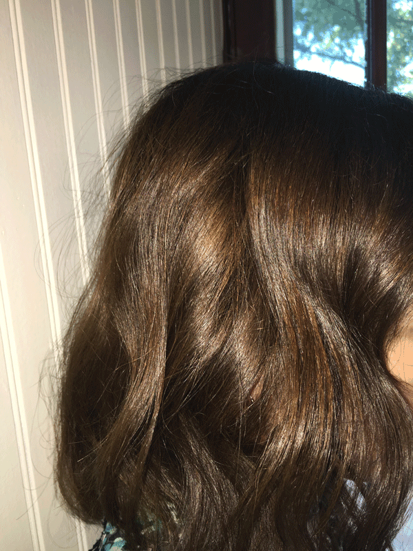 Soft, waves from the NuMe curling wand