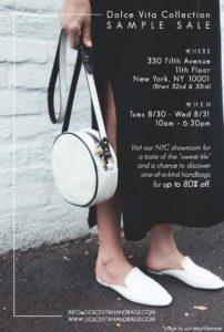 dolce vita collection sample sale flyer