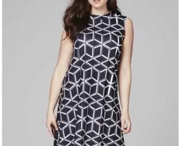 geometric pattern work dress