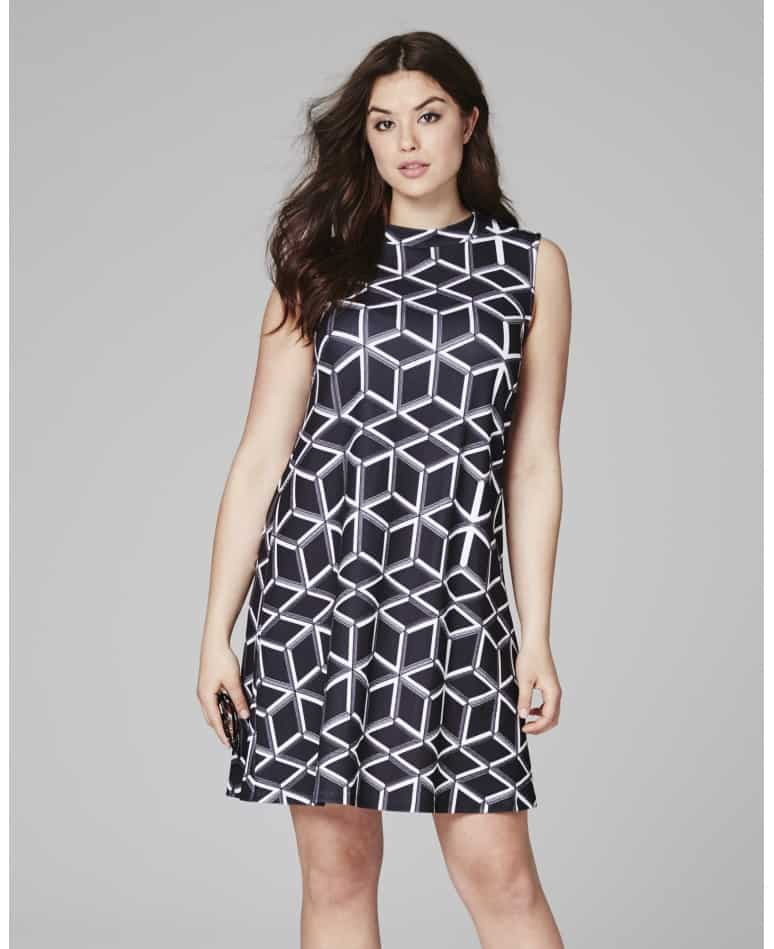 geometric pattern work dress
