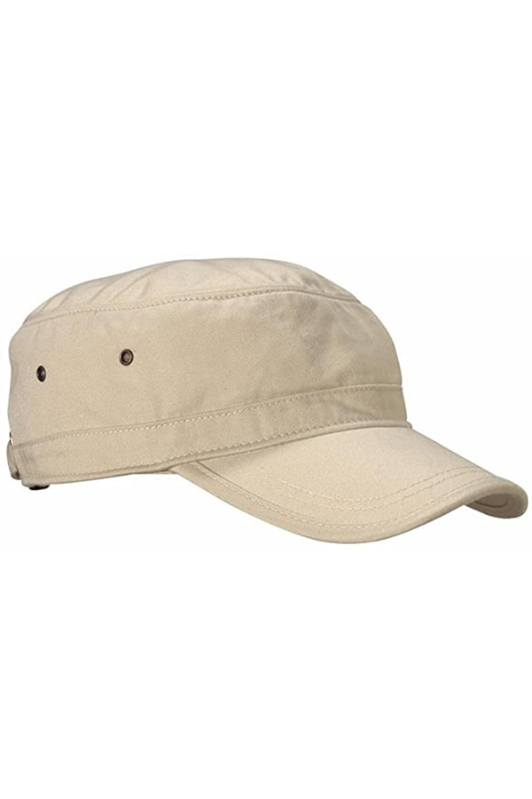 Beige cap for camping