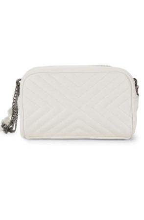 White quilted fanny pack
