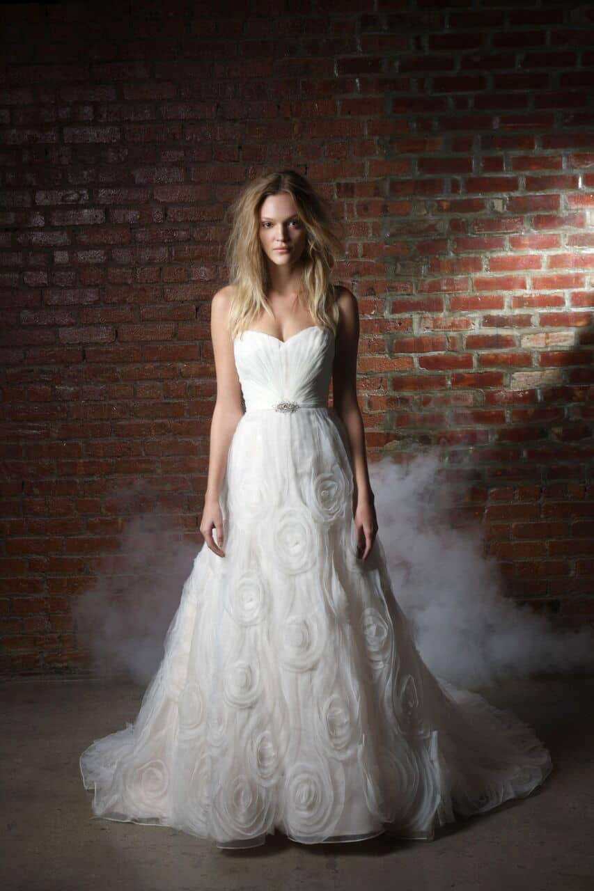 roth bridal sample sale - model wearing wedding gown