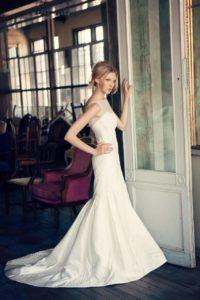 roth bridal sample sale - model wearing wedding gown