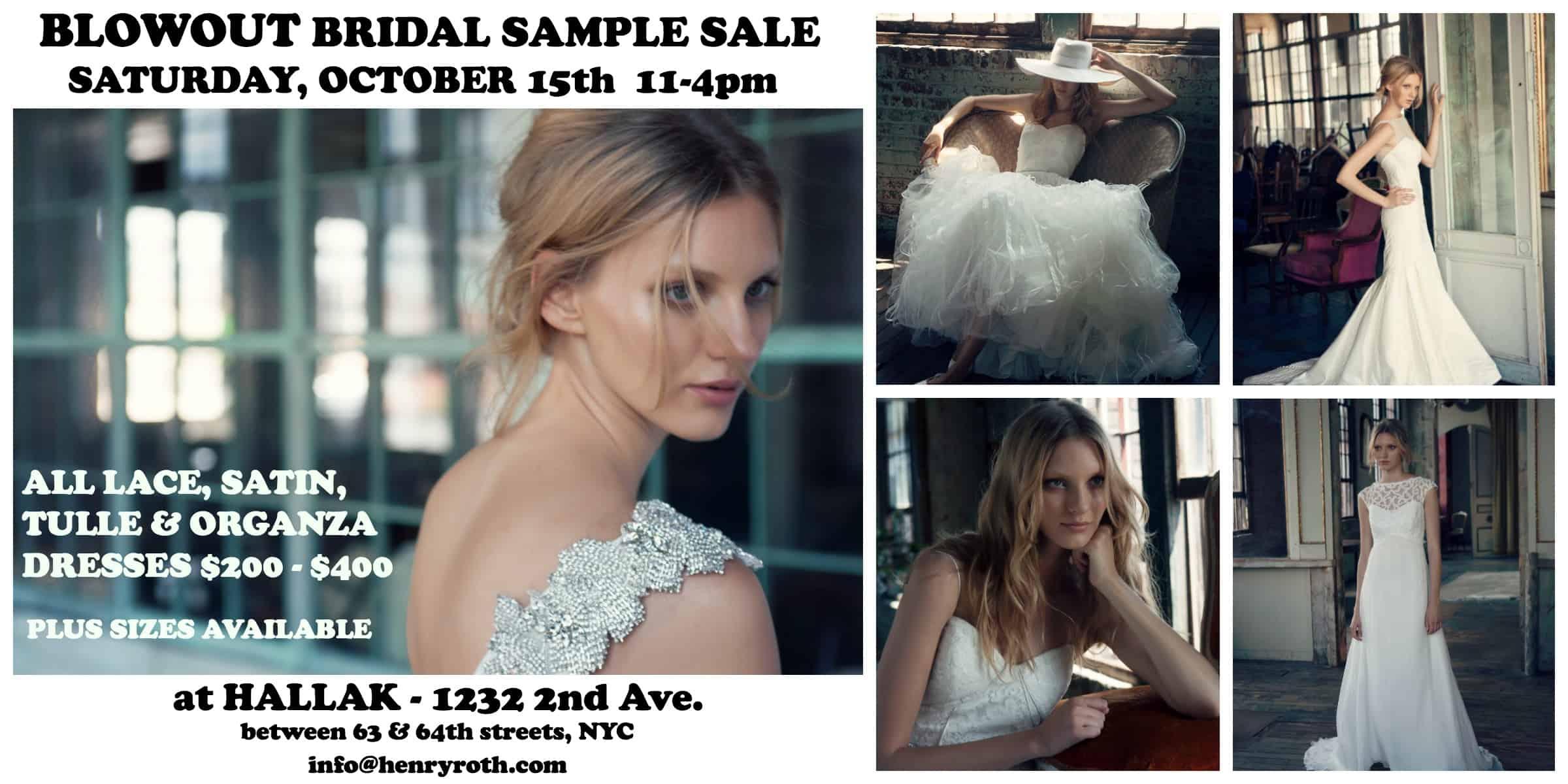 roth bridal sample sale flyer