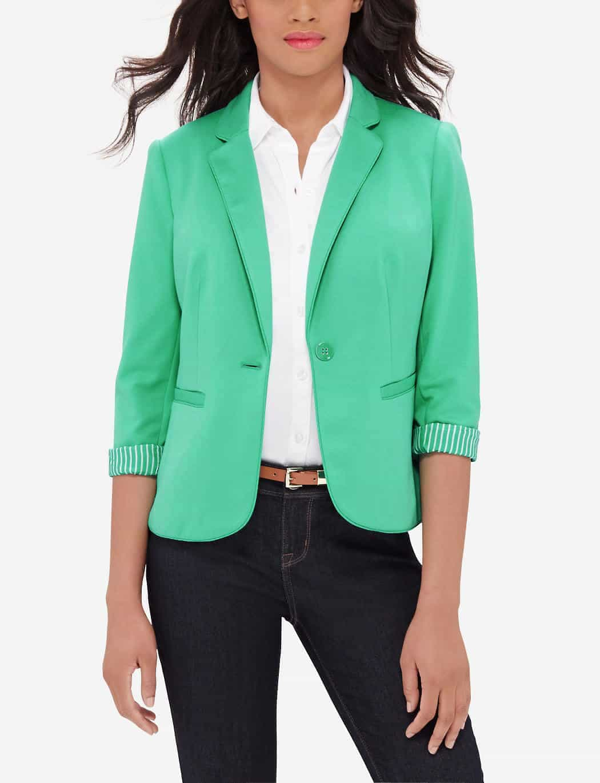 womens blazers - green spring blazer
