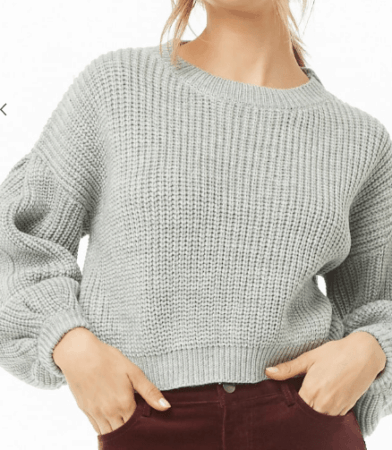 Gray cropped sweater