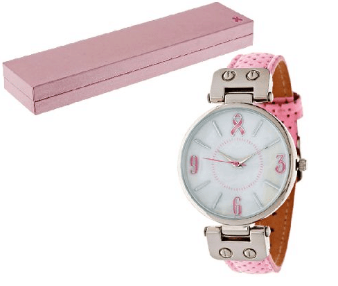 breast cancer awareness products - pink ribbon watch