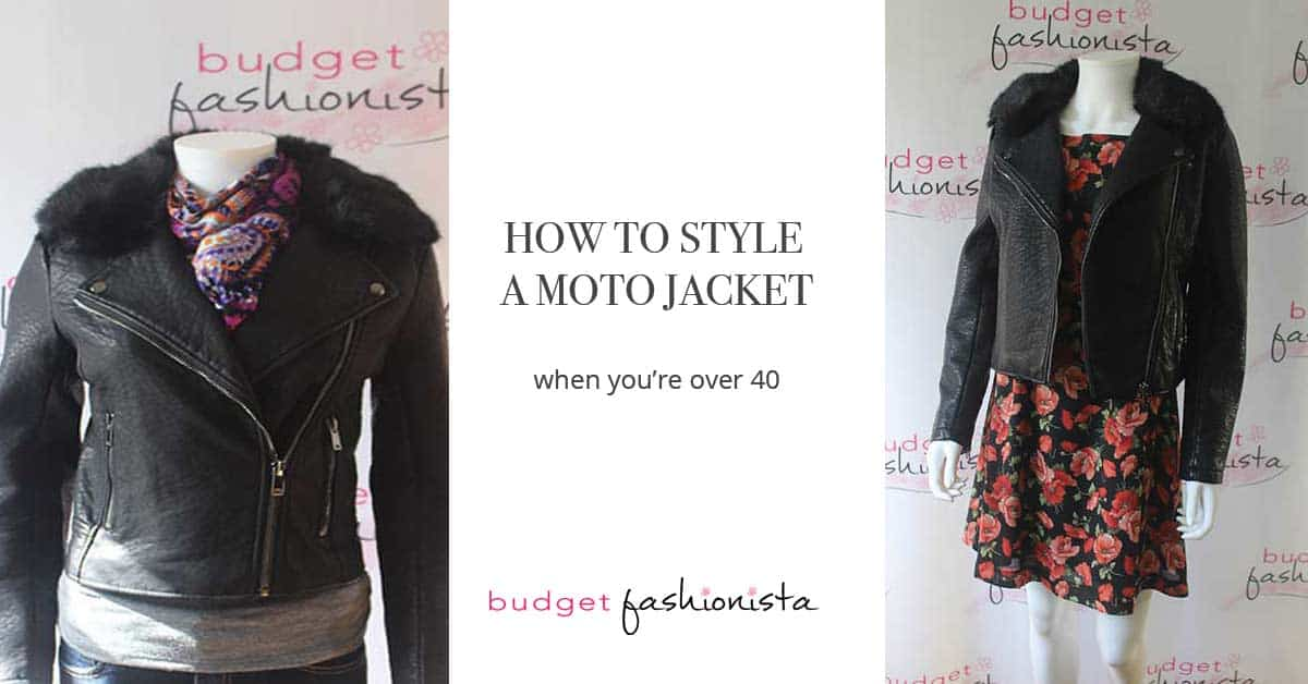 how to style a moto jacket collage