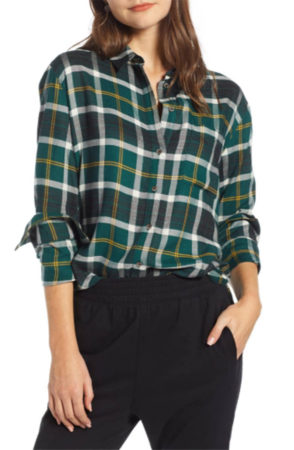 90s fashion trends - plaid top