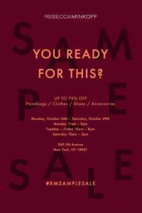 rebecca minkoff sample sale new york