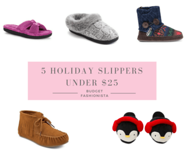 holiday slippers collage