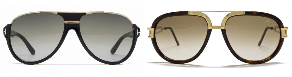 sunglasses trends - two pairs of aviator style sunglasses