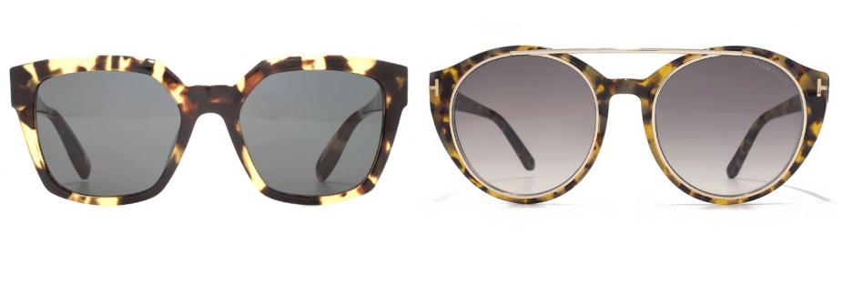 sunglasses trends - two pairs of havana style sunglasses