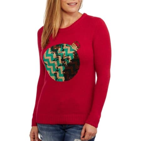 ugly christmas sweater - red sweater with ornament