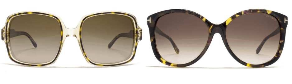 sunglasses trends - two pairs of oversized sunglasses