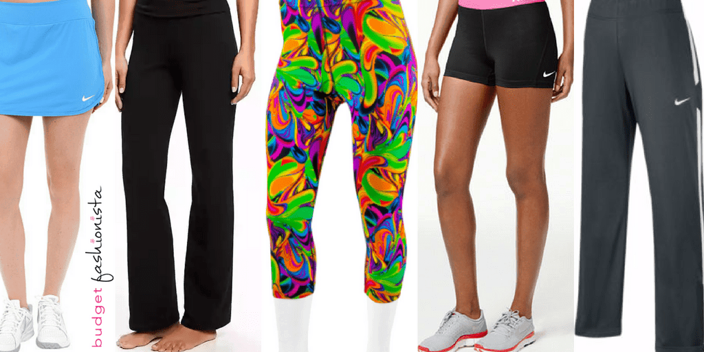 workout pants collage