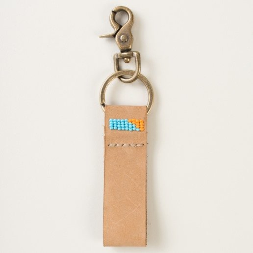 gifts that give back - leather keychain