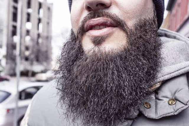 close up of man's beard
